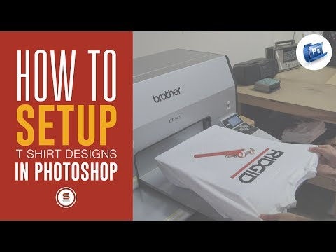 How To Set Up A Custom T Shirt Design In Photoshop Tutorial - 동영상