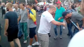 S-a dat cu gaze lacrimogene la protestul diasporei  de la Guvern - Curaj.TV