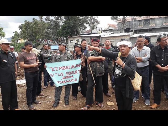 """Masyarakat Bogor Murka Cagar Budaya Nasional """"Situs Sumur Tujuh"""" Dirusak"""