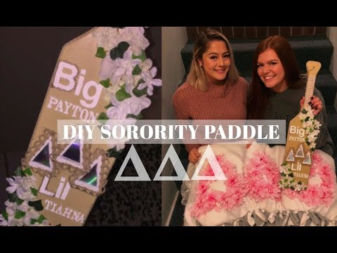 ♡DIY Sorority Paddle/Vlog♡ | UNR Tri Delta |