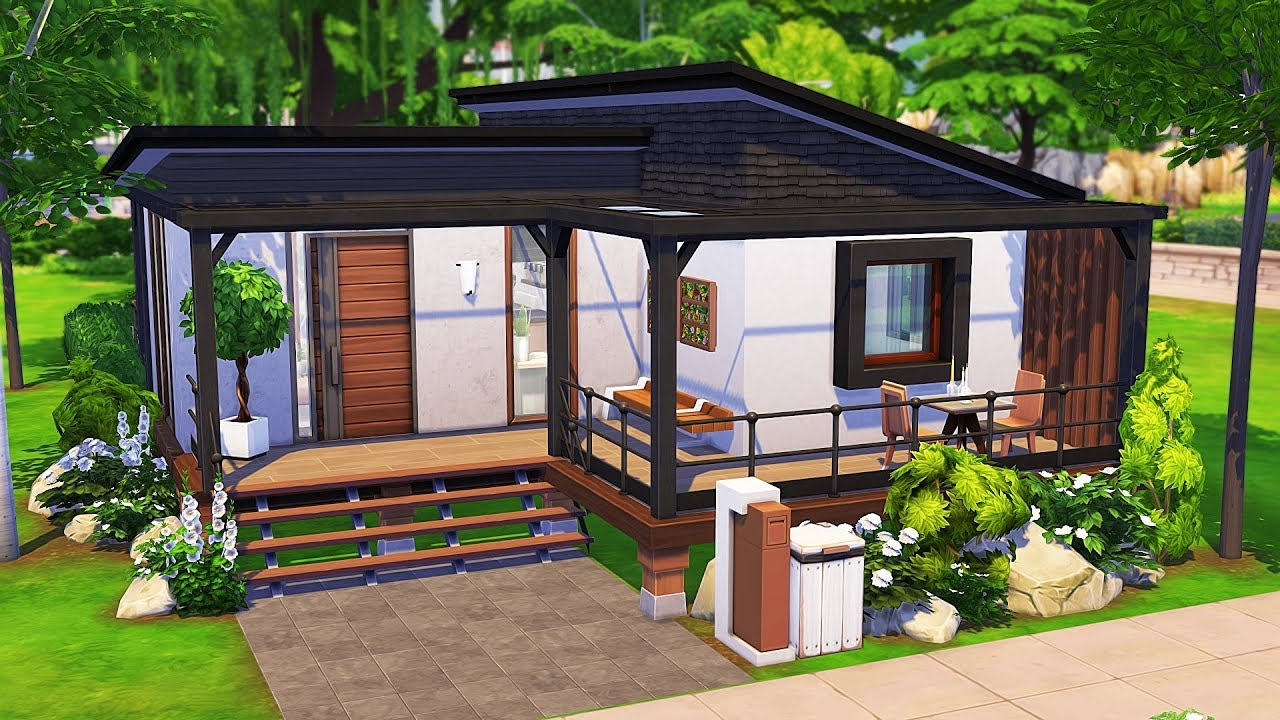 Watch ROOMMATES' TINY HOUSE   The Sims 4   Speed Build - The