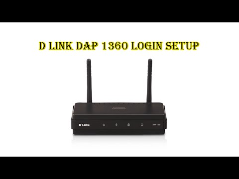 How to  configure D  link Dap1360 on Windows 10 كيفية تكوين دي لينك 1360 جهاز التوجيه