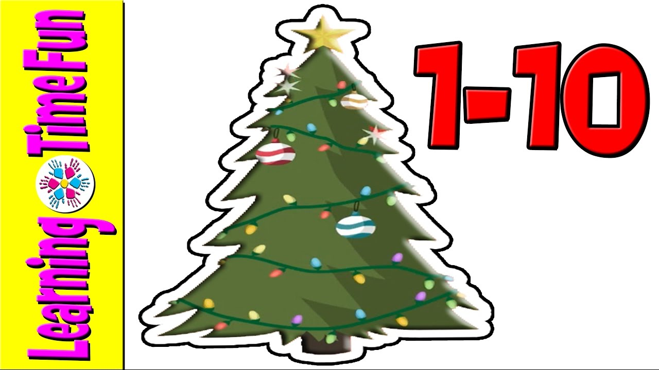 Count To 10 With Christmas Trees Numbers In English Christmas