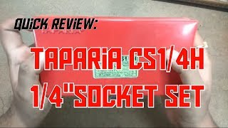 "Quick Review: Taparia 23Pcs 1/4"" Drive Socket Set."