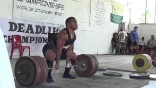 Bronco deadlifting 280kg