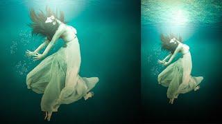 Photoshop Tutorial | How to Under Water girl Photo Manipulation