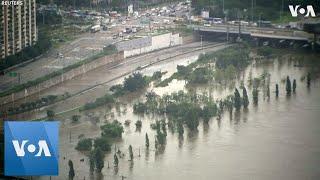 Heavy Rains Cause Flooding in South Korea
