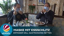 Maske mit Essschlitz: So will ein Bremerhavener die Gastronomie retten