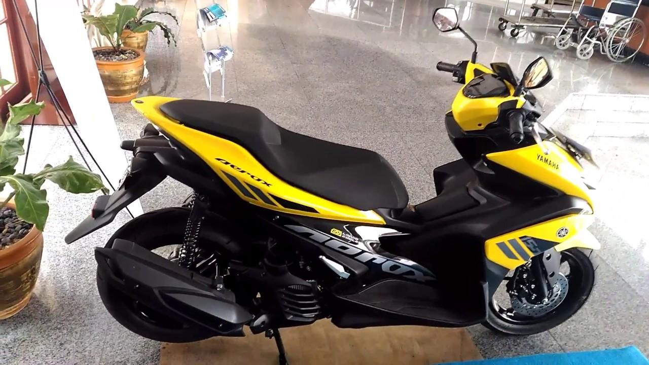lebih dekat dengan yamaha aerox 155 vva versi standar warna kuning