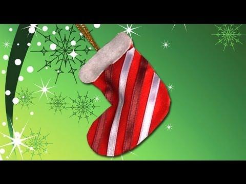 Una bota adornos de navidad con fieltro manualidades - Tarjetas de navidad manuales ...