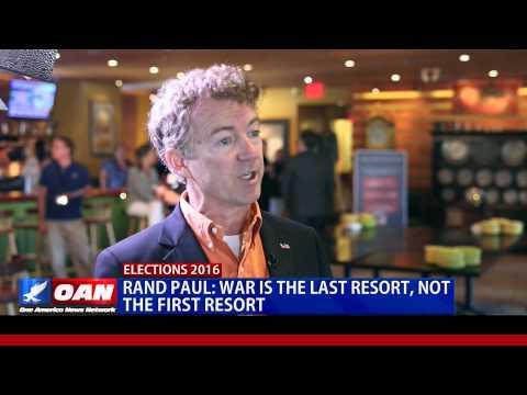 OANN Exclusive: Sen. Rand Paul In Maine.