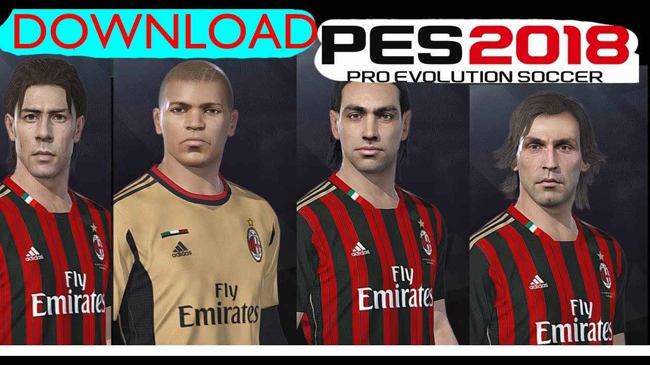 AC Milan Classic faces for PES 2019/2018 ||DOWNLOAD by MictlanTheGod