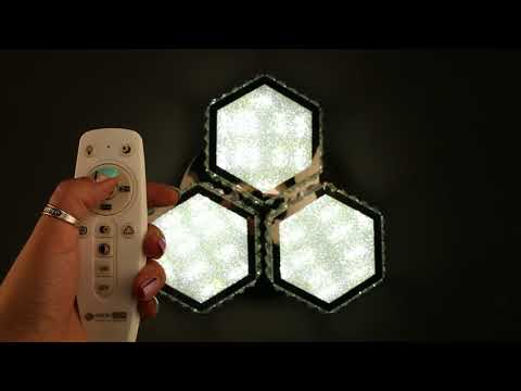Видео-инструкция к пульту управления к светильникам OML-00107-120 и OML-00117-120