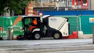 Street Sweeper in action - central Bristol, UK