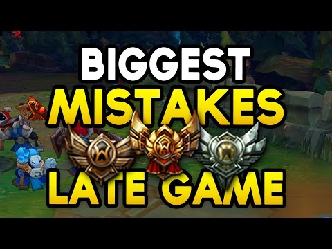 BIGGEST LOW ELO MISTAKES LATE GAME - How to fix them and win more (League of Legends)