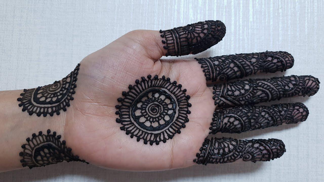 Front Hand Attractive Front Hand Tikki Mehndi Design 2019