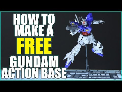 How To Make a FREE Gundam Action Base in 5 Easy Steps! Fly! Gundam
