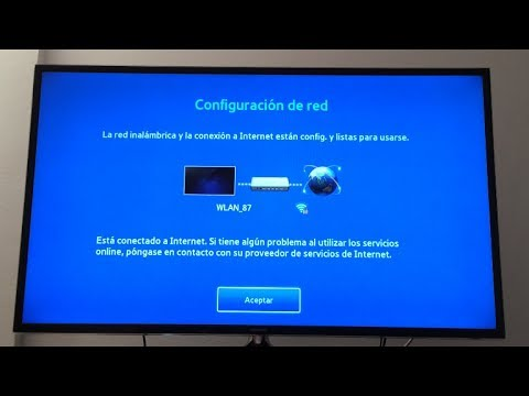 Conectar Smart TV Samsung a Internet por wifi. [Connect Samsung Smart TV to Internet wifi]