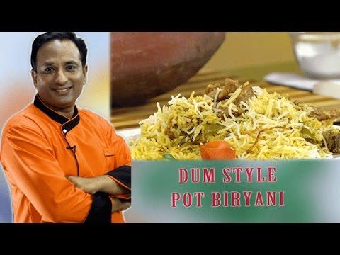 Mutton Biryani Recipe Lucknowi Dum Style In Pot