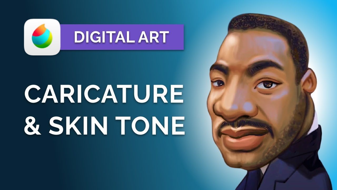 How to Draw CARICATURES for Beginners: Digital Art Tutorial - MediBang Paint Pro (step by step)