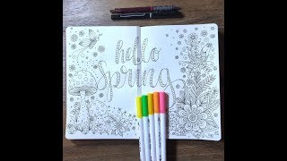 hello spring | kcdoodleart