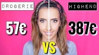 387€ Highend vs Drogerie 57€ Makeup im Live Test | Teuer vs Günstig