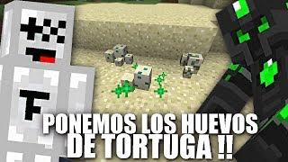 MONTAMOS UNA MINI ISLA PARA LAS TORTUGAS !! SKYNOOB #23 MINECRAFT BYTARIFA GAMING