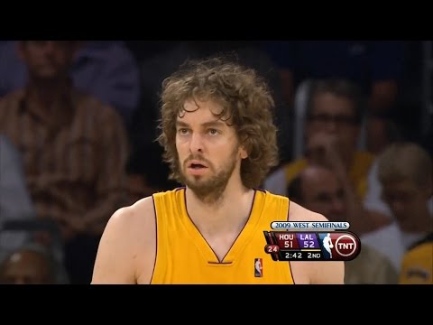 Pau Gasol Full Highlights vs Rockets 2009 WCSF GM2 - 22 Pts, 14 Rebs, 4 Blks