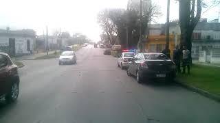 Otro accidente bici y un auto ya rombo al Sarandi