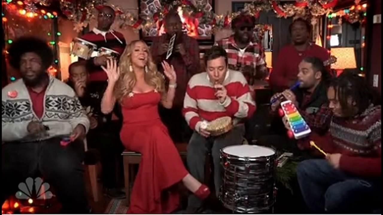 Jimmy Fallon, Mariah Carey & The Roots: Merry Christmas Donald Trump ...