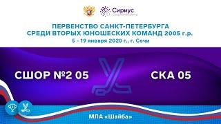 Хоккейный матч. 7.01.20. «СШОР №2 05» – «СКА 05»