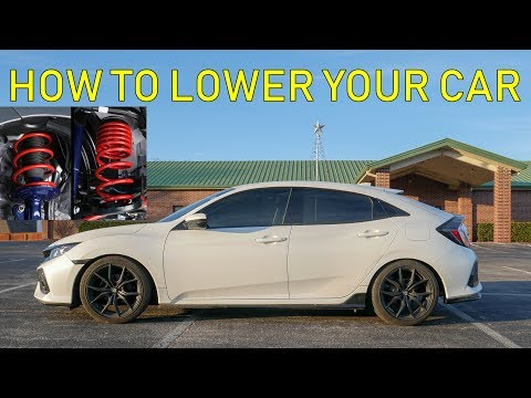 How To Install Lowering Springs (Complete Guide) 10th Gen Honda Civic