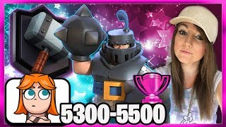 🎀NEW LADDER TROPHY PUSH WITH  MEGA KNIGHT BAIT 5300-5500 & Grand Challenge  🎀CLASH ROYALE🎀