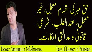 Dower of wife (Haq Meher)