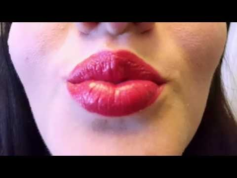 how to draw a lipstick kiss