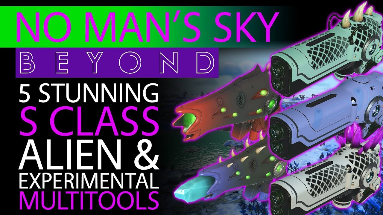 5 Stunning S Class Multitools | Best of the Best in No Man's Sky Beyond |  Alien & Experimental