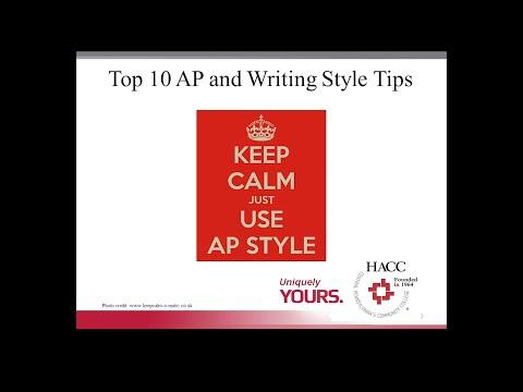 Mastering AP Style