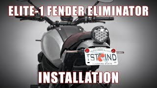 How to install an Elite-1 Fender Eliminator on a 2016+ Yamaha XSR900 by TST Industries