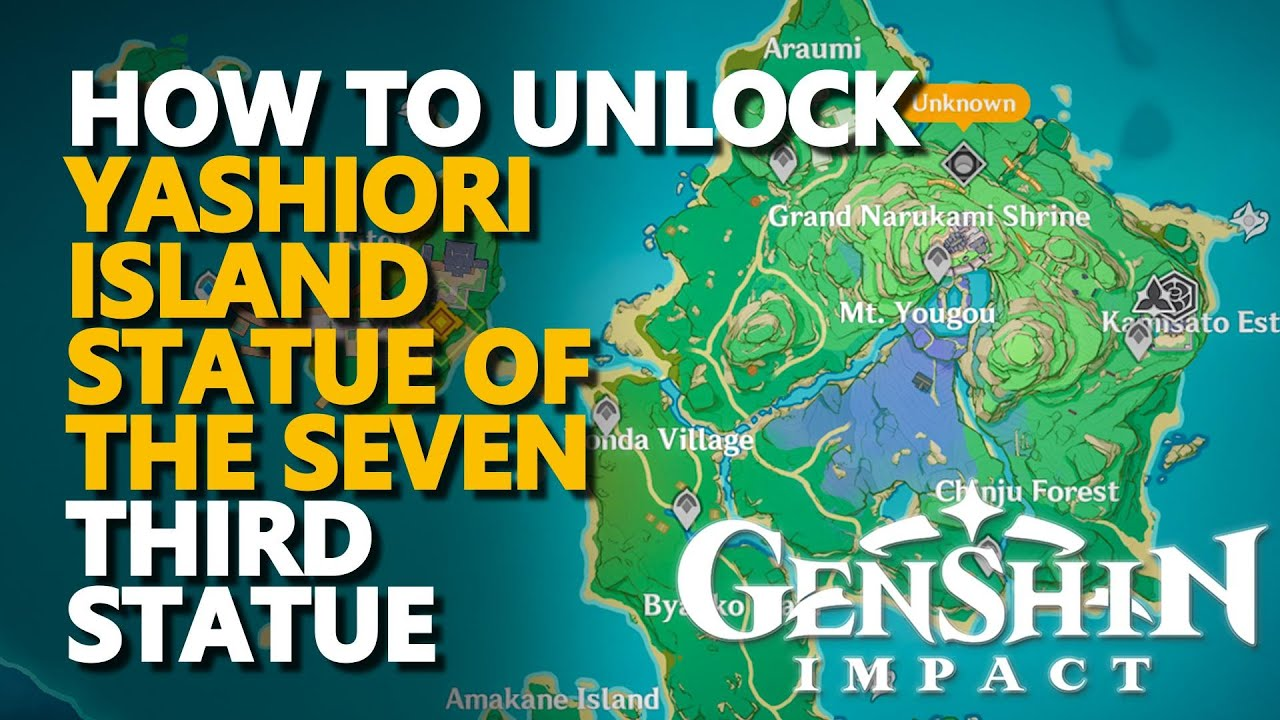 There are lots of activities and collectibles here. How To Unlock Yashiori Island Statue Of The Seven Genshin Impact Youtube