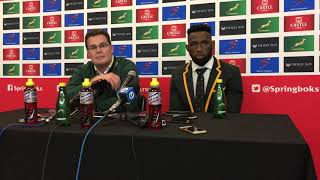 Springboks post-match press conference (18/08/18)