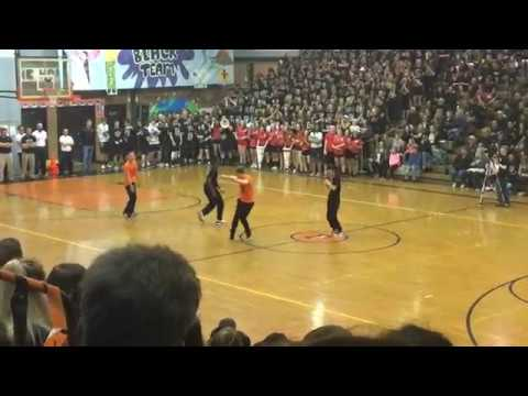 Pennsbury Sportsnite 2017 boys dance team seniors