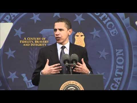 President Obama Visits FBI Headquarters