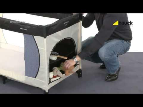 hauck reisebett dream n play youtube. Black Bedroom Furniture Sets. Home Design Ideas