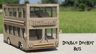 How to Make a Double Decker Bus From Cardboard ! DIY Luxury Bus