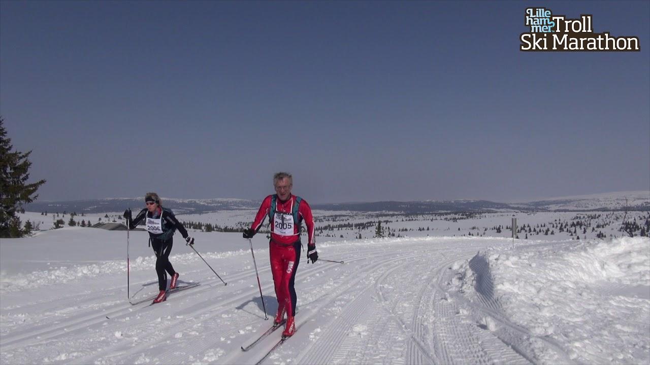 Lillehammer Trollski Marathon 2018 - Glimt fra Rennet Venabygdsfjellet - Sjusjøen
