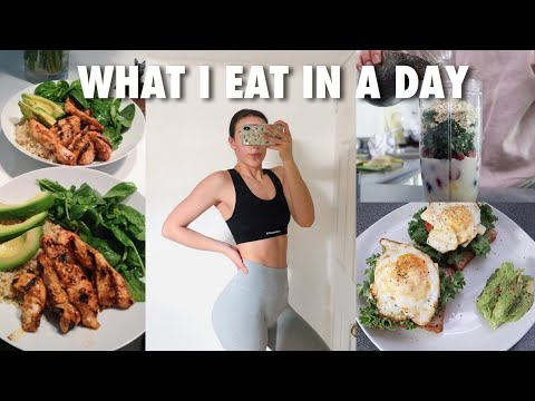 WHAT I EAT IN A DAY: healthy + gaining muscle (2020)