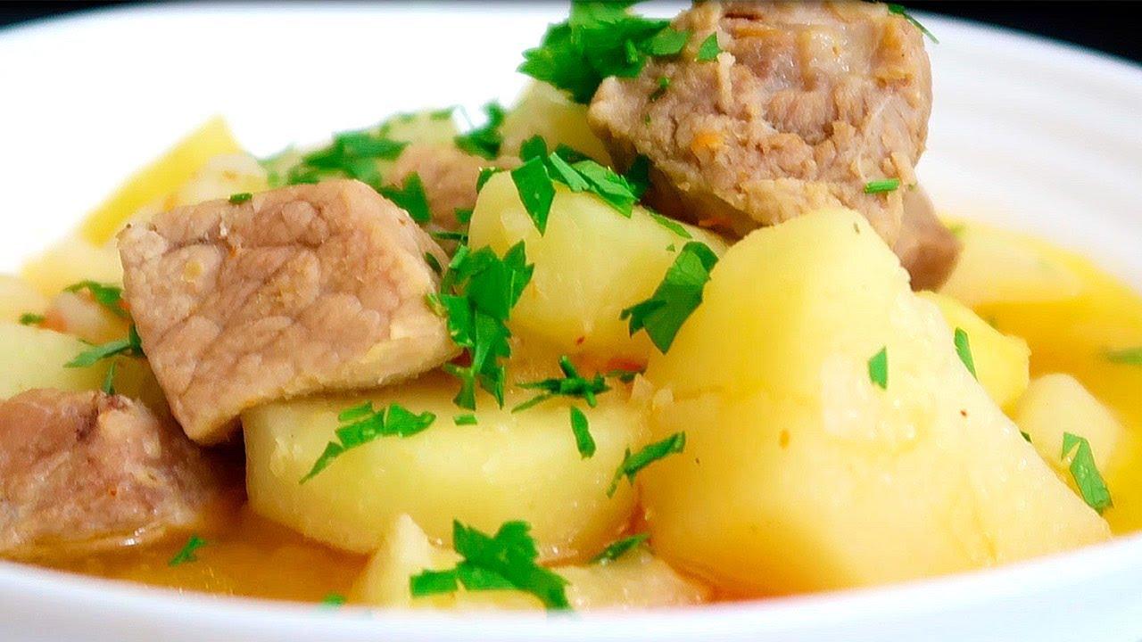 Картошка с Мясом по Деревенски «Картошка с Мясом в Мультиварке Слоями»