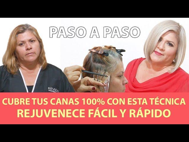 Cubre tus canas 100% con esta técnica y REJUVENECE FÁCIL Y RÁPIDO PASO A PASO.