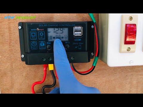 How to Install Solar Inverter   Off-grid Solar Power System   12V Battery   100W Panel