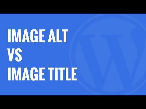 Image Alt Text vs Image Title in WordPress